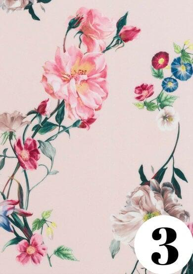 Blush floral fabric print by ColieCo