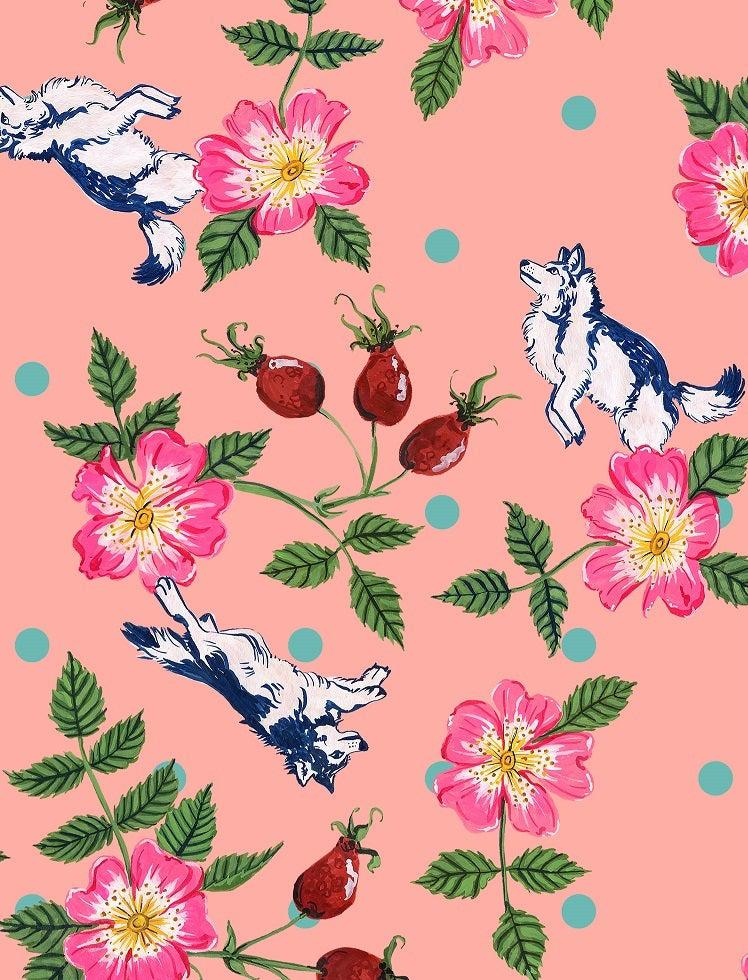 Rosa Canina print by Nicola Hanrahan for ColieCo Lingerie