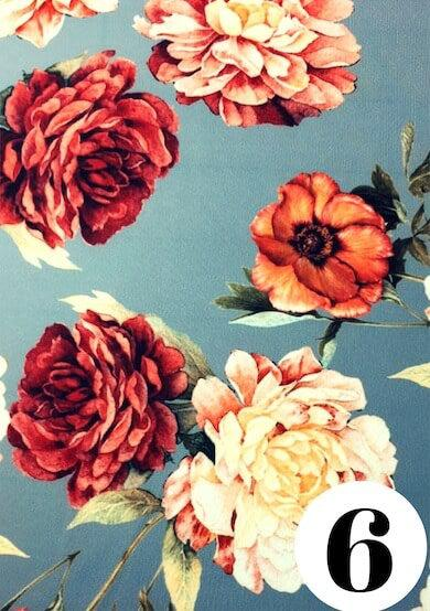 Steel camellia fabric print by ColieCo