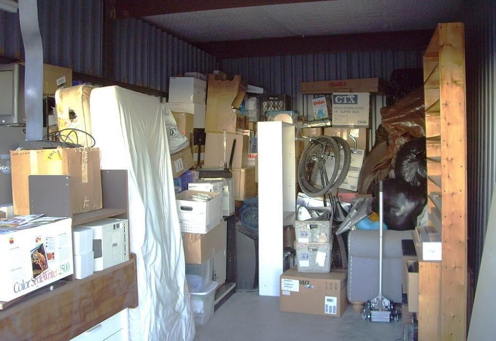 Garage full of clutter