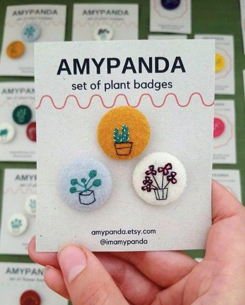 Amy Panda felt badges