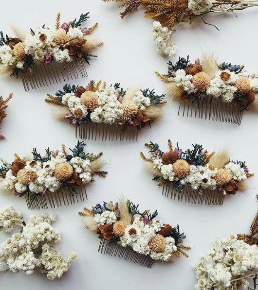 Eucca floral hair slides