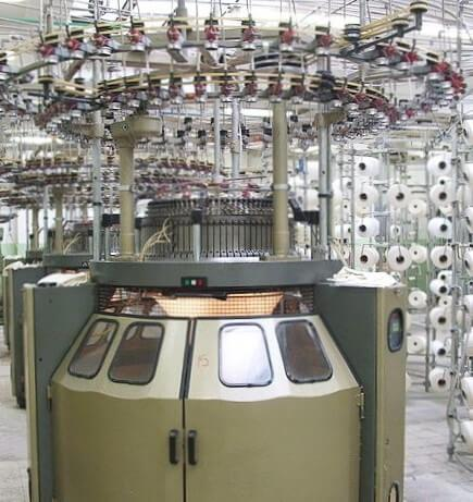 Industrial cotton knitting machine