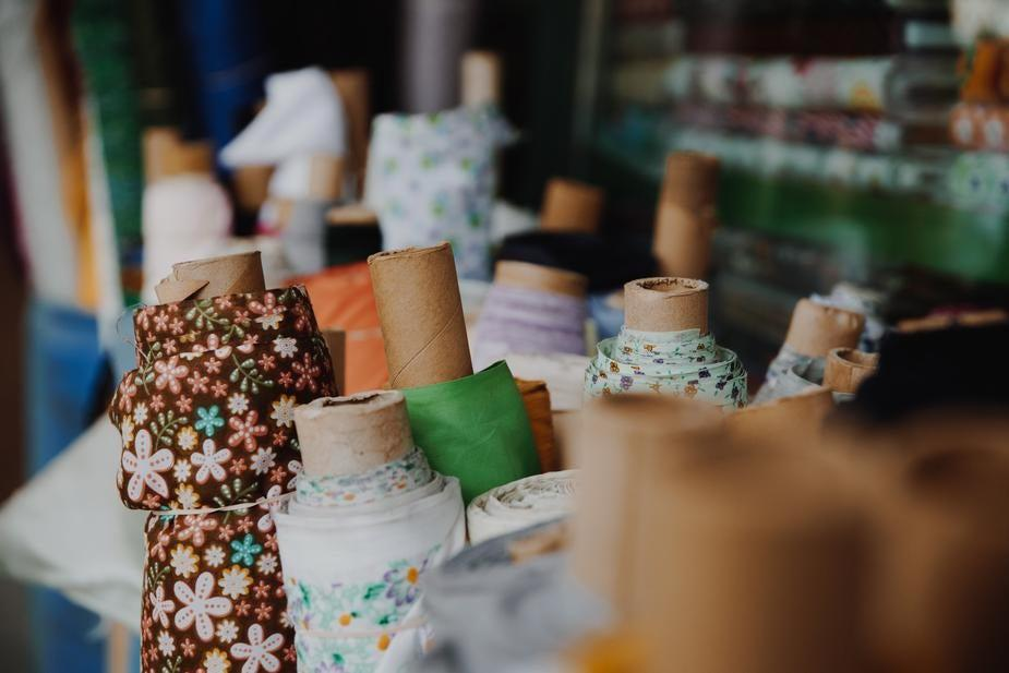 Reclaimed fabric rolls