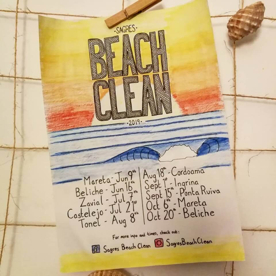 Sagres Beach Clean dates