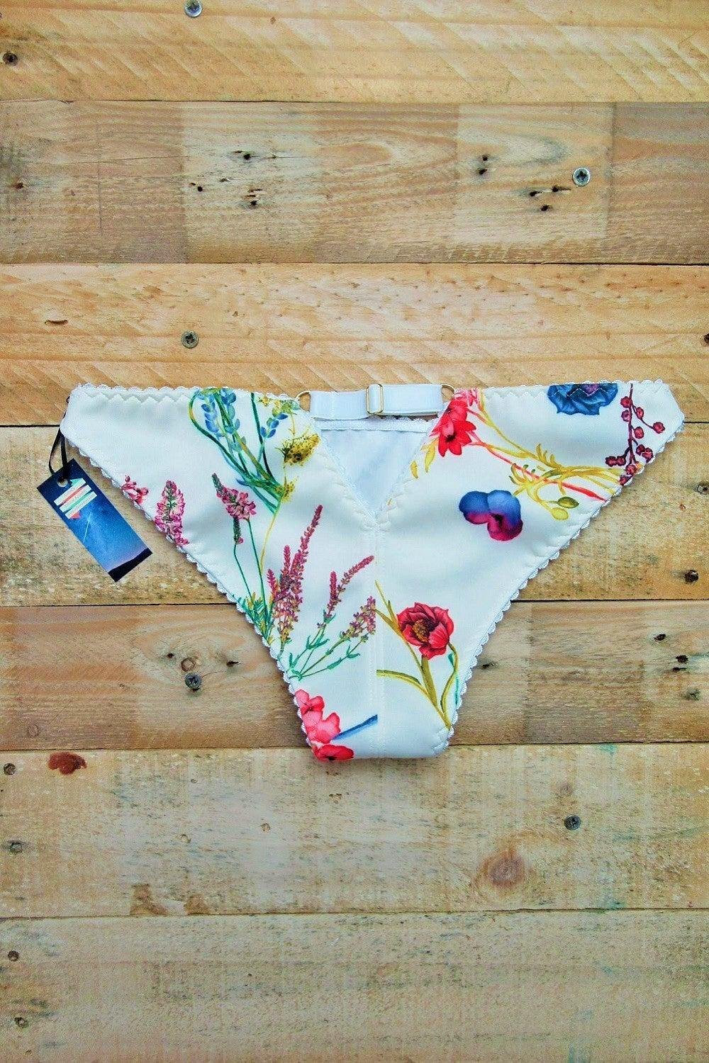 Venus low rise panties in brilliant berry fabric print by ColieCo