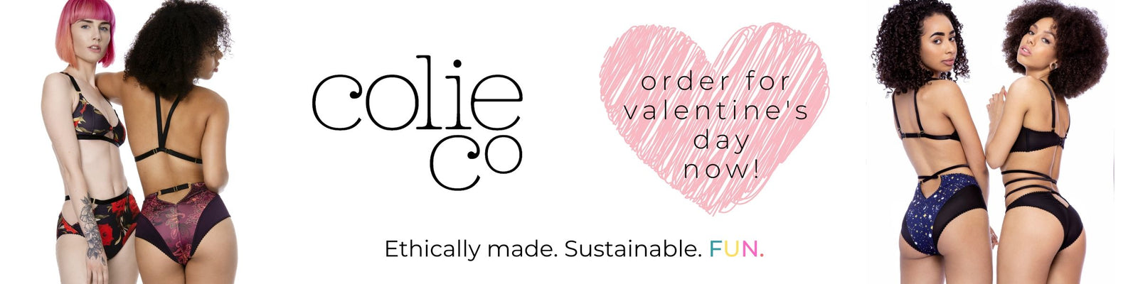 ColieCo Lingerie order now for Valentines Day