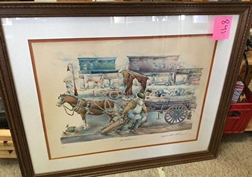 Limited Edition Color Lithograph of The Seltzerman by Seymour Rosenthal