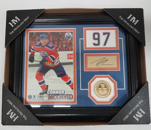 The Highland Mint Connor McDavid Edmonton Oilers coin and Print with Sign - Resale Shop Canada