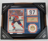 The Highland Mint Connor McDavid Edmonton Oilers coin and Print with Sign
