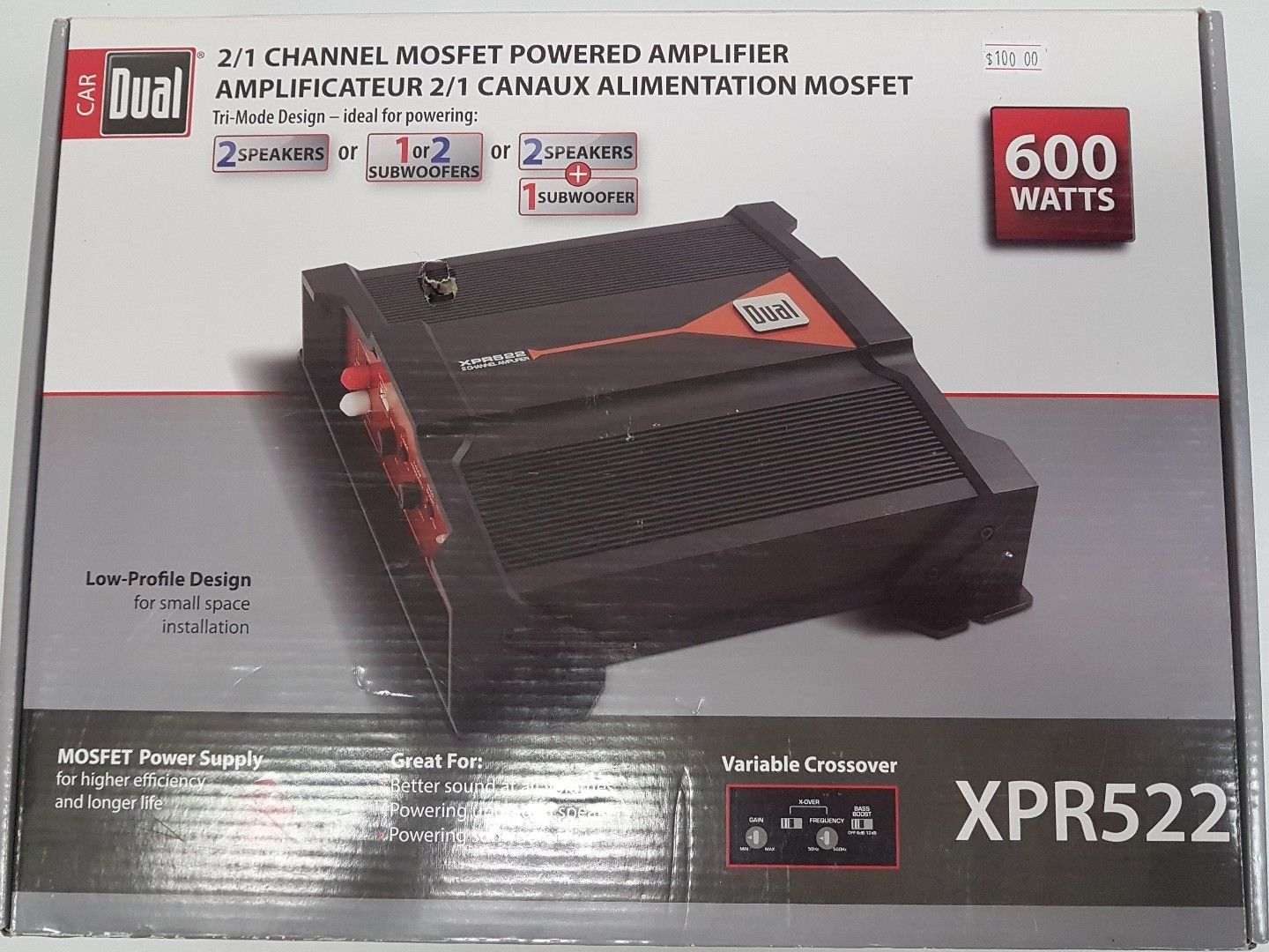 Dual XPR522 2/1 channel MOSFET Powered Amplifier - Resale Shop Canada