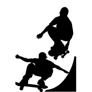 RoomMates RMK1313GM Chalkboard Skaters Peel and Stick Wall Decals - Resale Shop Canada