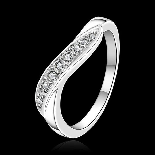 925 Silver Plated Zircon Ring