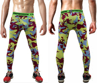 Compression Bodybuilding Camouflage Army Green Skinny Leggings For Men