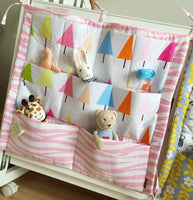 Muslin Tree Storage Bag Hanging On Baby Cot
