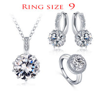 Luxury Classical Women Jewelry Set - Necklace/Earrings/Ring Set