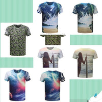 O Neck Short Sleeve Slim Fashion T Shirt For Men Unisex Casual Tees