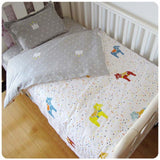 Cotton Linen Baby Bedding Set (Pillowcase, Bed Sheet, Duvet Cover Without Filler) 3 Pcs per set