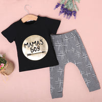 Newborn Toddler Mamas Boys Jumpsuit 2 Pcs Outfit