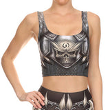 Women Colorful Cosplay Sleeveless Tee Vest