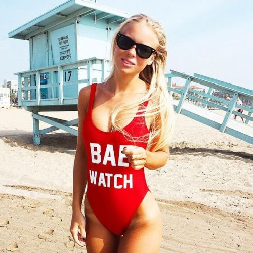 One Piece Swimsuit BAE WATCH For Women
