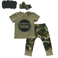 Summer Toddlers Camouflage T-shirt Tops+Pants Outfits