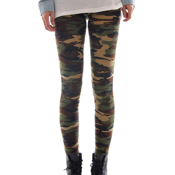 Sexy Women's Camouflage Army Green Stretch Yoga Leggings