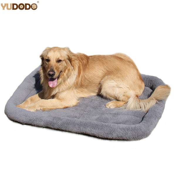 Gray Warm Soft Blanket Bed For Small Large Dog Pet Cat 100*72cm/84*64cm/72*50cm/58*40cm