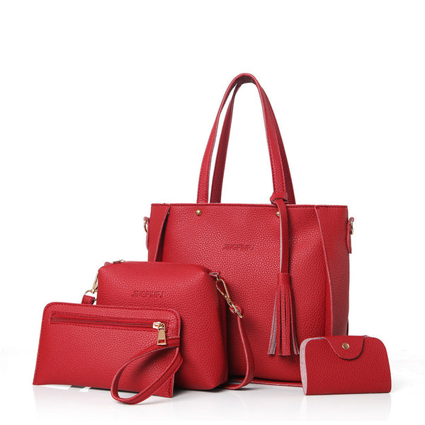 Women's PU Leather Bag Set
