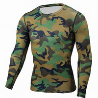 Camouflage Military Bodybuilding Long Sleeve T Shirts
