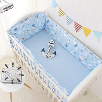 Baby Cot Bedding Set (Bed Sheet, Bumpers With Filling) 5pcs per set, 7 sizes