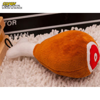 Plush PP Cotton Filled Squeaker Sound Chewing Toy Drumstick Design