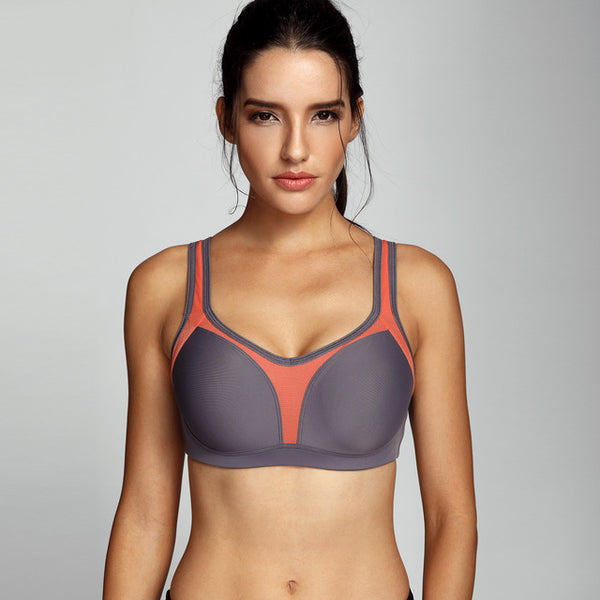 Women's Underwire Firm Support Contour High Impact Sports Bra
