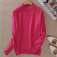 Winter Cashmere Half Turtleneck Pullovers Knitted Sweater
