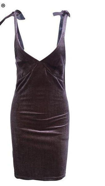 Velvet Strap Dress For Women