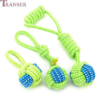 Chewing Teeth Outdoor Training Green Rope Ball Toy