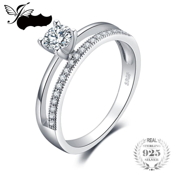 Wedding Engagement Ring 925 Sterling Silver Jewelry