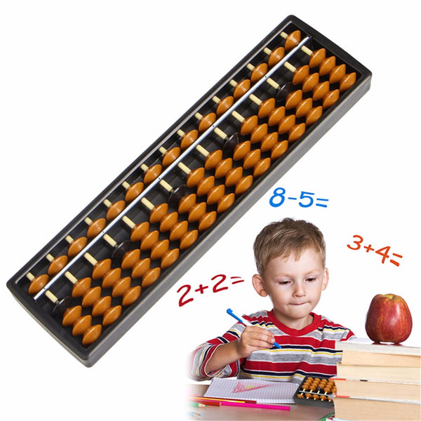 Plastic Abacus 15 Digits Kid's Math Learning Aid