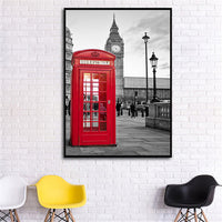 Wall Art - London Paris Black and White Background