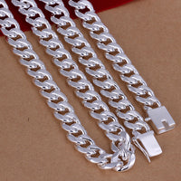 925 stamped Silver Chains for Men