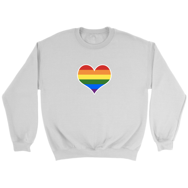 Gay Pride Rainbow Heart LGBTQ+ Sweatshirt - Havana86