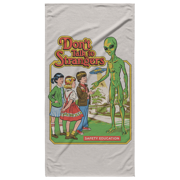 Don't Talk To Strangers Steven Rhodes Beach Towel - Havana86