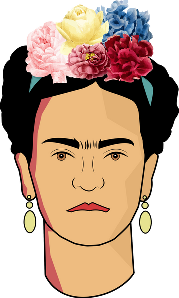 Frida Kahlo Illustration T-shirt - Havana86