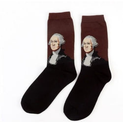 Famous Artwork Socks - George Washington - Havana86