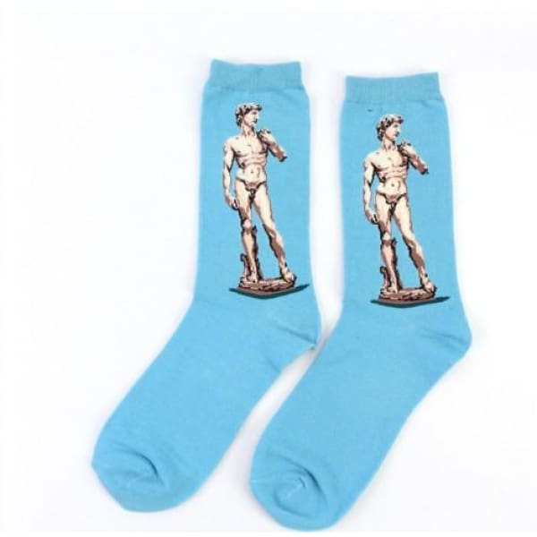 Famous Artwork Socks - Michelangelo's David - Havana86