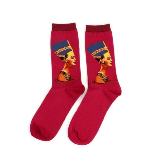 Famous Artwork Socks - Nefertiti - Havana86