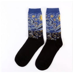 Famous Artwork Socks - Starry Night - Havana86