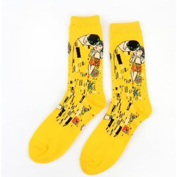 Famous Artwork Socks - The Kiss - Havana86
