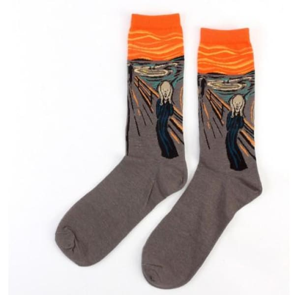 Famous Artwork Socks - The Scream - Havana86