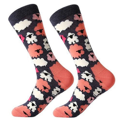 Funky Crew Socks - Pink Sheep - Havana86